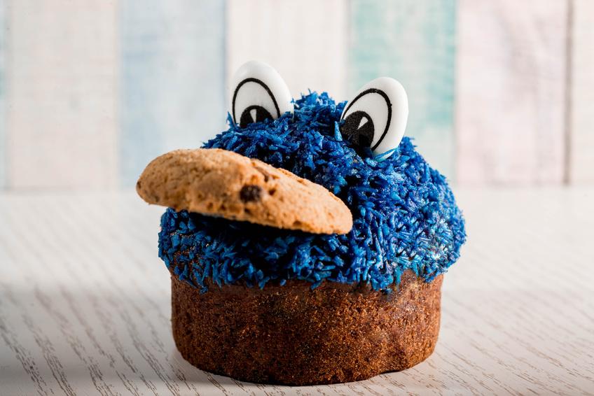 Muffin frisst Cookie als Methaper für Programmatic Advertising