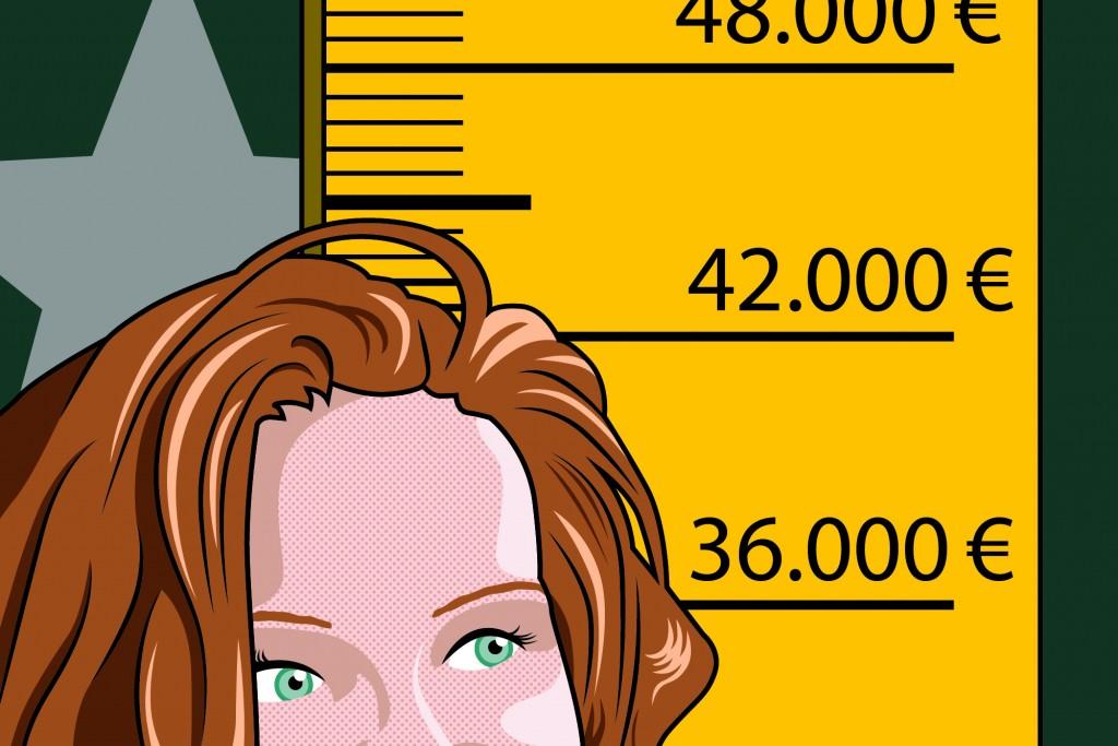 Illustration transparente Gehälter