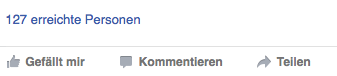 Abbildung eines Facebook-Posts