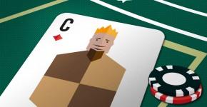 Spielkarte mit C für Content Marketing