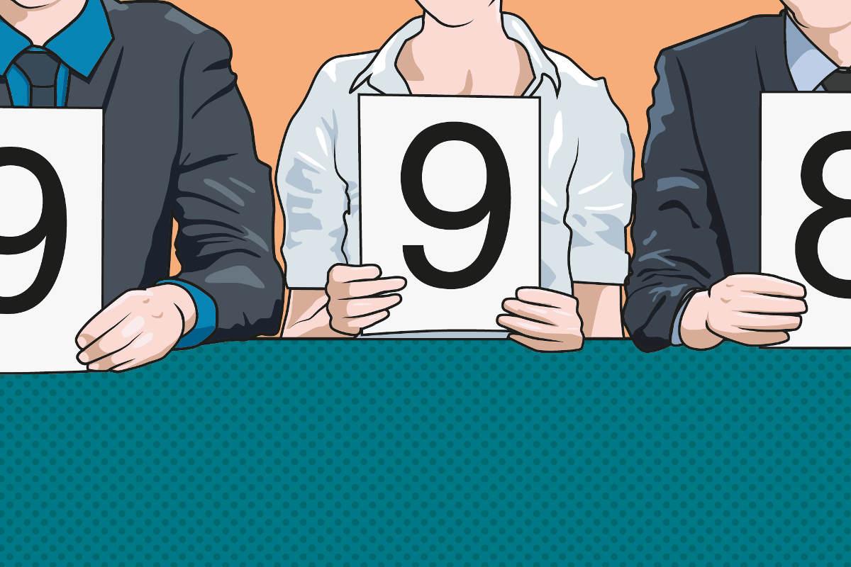 Juroren bewerten eine Webdesign Agentur