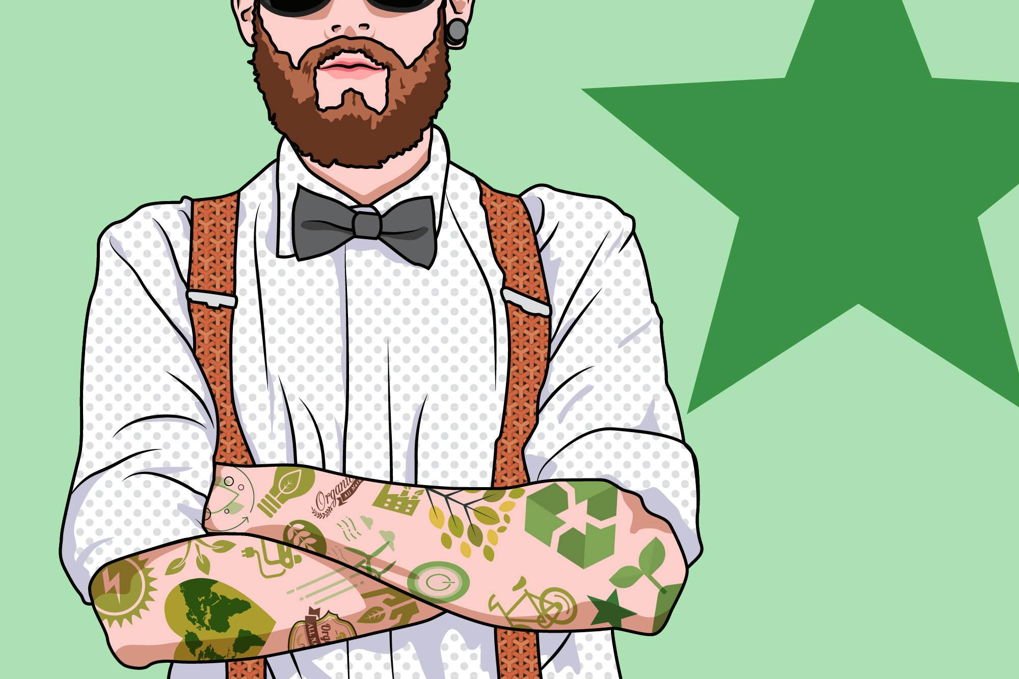 Illustration zu Blogbeitrag über Nachhaltigkeit in Werbeagenturen. © Digitalgenossen